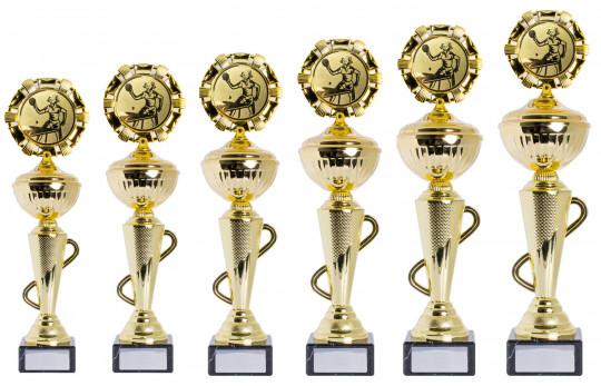 Sale: Pokale 6er Serie S412 gold 31cm
