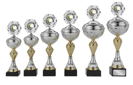Sale: Pokale 6er Serie S420 silber/gold 28cm