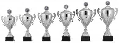 Pokale mit Henkel 6er Serie S917 silber