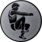 Emblem 50mm Weitspringer, silber