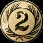 Emblem 50 mm Ehrenkranz mit 2, gold