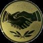 Emblem 50 mm Hände, gold
