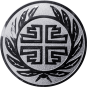 Emblem 50 mm Kranz Frisch From Fröhlich Frei, silber