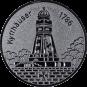 Emblem 50 mm Kyffhäuser, silber