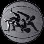 Emblem 50 mm Ringen, silber