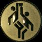 Emblem 50mm 2 Basketballer, gold