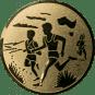 Emblem 50mm 2 Laeufer am See, gold