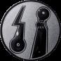 Emblem 50mm 2 Minigolfplätze, silber