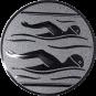 Emblem 50mm 2 Schwimmer, silber