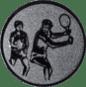 Emblem 50mm 2Tennisspieler, silber