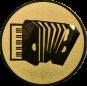 Emblem 50mm Akkordeon, gold