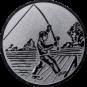 Emblem 50mm Angler beim Wurf, silber