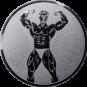 Emblem 50mm Bodybuilding männl., silber