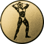 Emblem 50mm Bodybuilding weibl., gold
