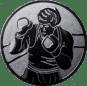 Emblem 50mm Boxer, silber