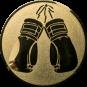 Emblem 50mm Boxhandschuhe, gold