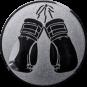 Emblem 50mm Boxhandschuhe, silber