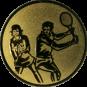 Emblem 50mm Doppel Mix, gold