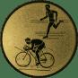 Emblem 50mm Duathlon, gold