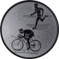 Emblem 50mm Duathlon, silber