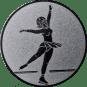 Emblem 50mm Eiskunstläuferin, silber