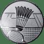 Emblem 50mm Federball m. Netz, silber