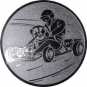 Emblem 50mm Kartfahrer 1, silber