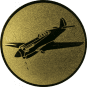 Emblem 50mm Kunstflugzeug, gold