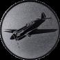 Emblem 50mm Kunstflugzeug, silber