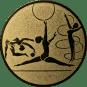 Emblem 50mm Kunstturnen, gold