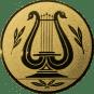 Emblem 50mm LYRA, gold