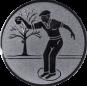 Emblem 50mm Petanque männl., silber