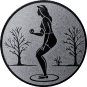 Emblem 50mm Petanque weibl., silber