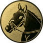 Emblem 50mm Pferdekopf, gold