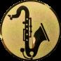 Emblem 50mm Saxophone, gold