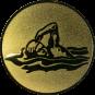 Emblem 50mm Schwimmer Freistil, gold