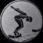 Emblem 50mm Schwimmer Startsprung, silber