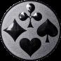 Emblem 50mm Skat, silber
