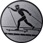 Emblem 50mm Skiroller, silber