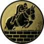 Emblem 50mm Springreiter Mauer, gold