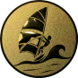 Emblem 50mm Surfer, gold