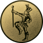 Emblem 50mm Tambourmajor, gold