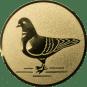 Emblem 50mm Taube links, gold