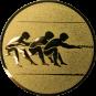 Emblem 50mm Tauziehen, gold