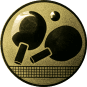 Emblem 50mm Tischtennisschläger, gold
