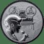 Emblem 50mm Tonaufnahme, silber