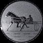 Emblem 50mm Traber, silber
