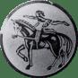 Emblem 50mm Voltigieren, silber