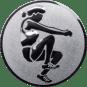 Emblem 50mm Weitspringerin, silber