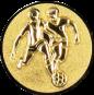 Emblem 50mm 2 Fußballer 3D, gold